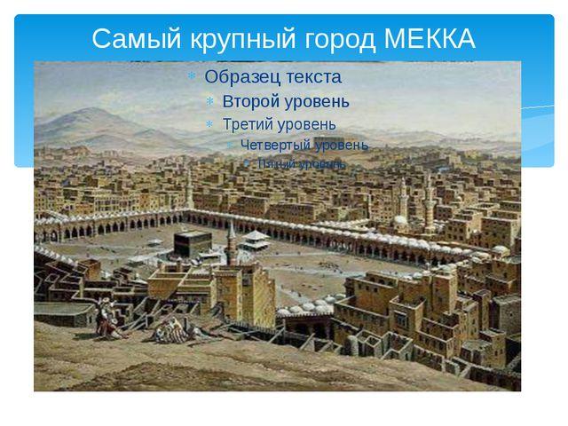 Самый крупный город МЕККА