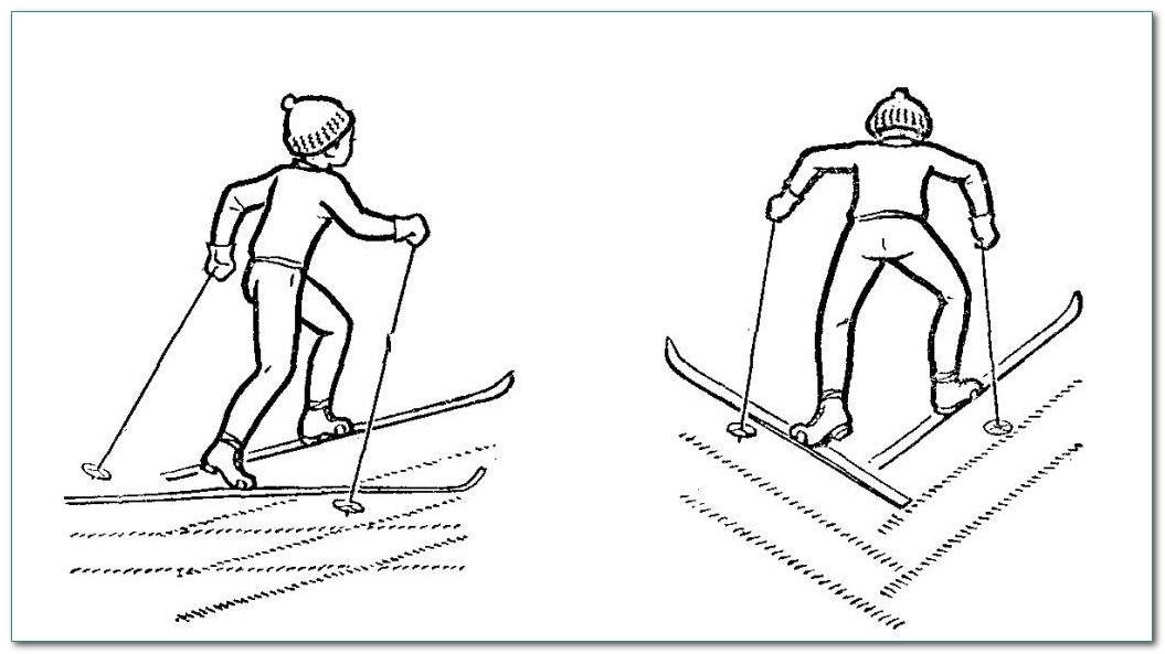Подъем на лыыжах лесенкой