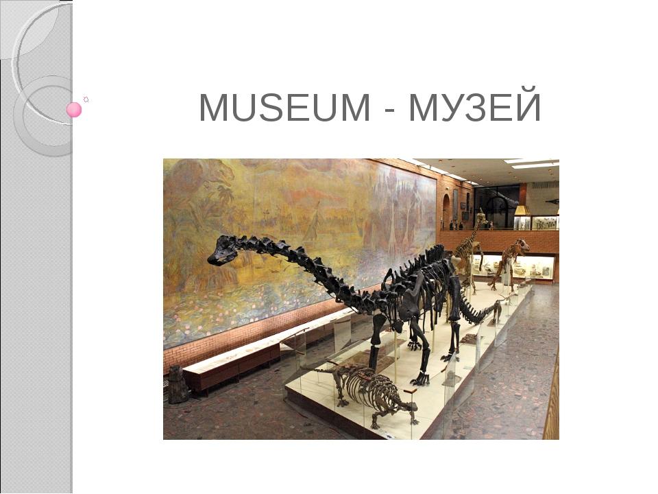 MUSEUM - МУЗЕЙ