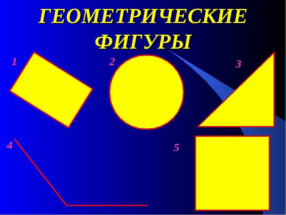 ГЕОМЕТРИЧЕСКИЕ ФИГУРЫ 2 1 3 4 5