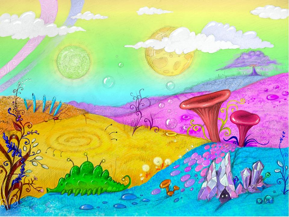 Нарисованные рисунки планеты