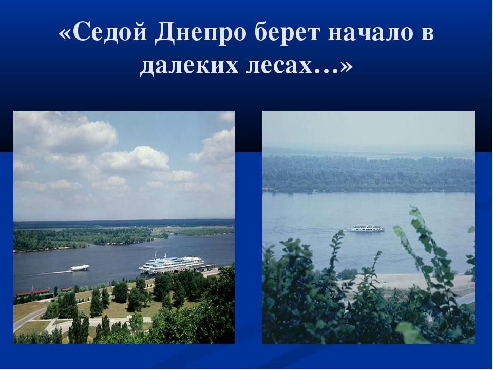 «Седой Днепро берет начало в далеких лесах…»