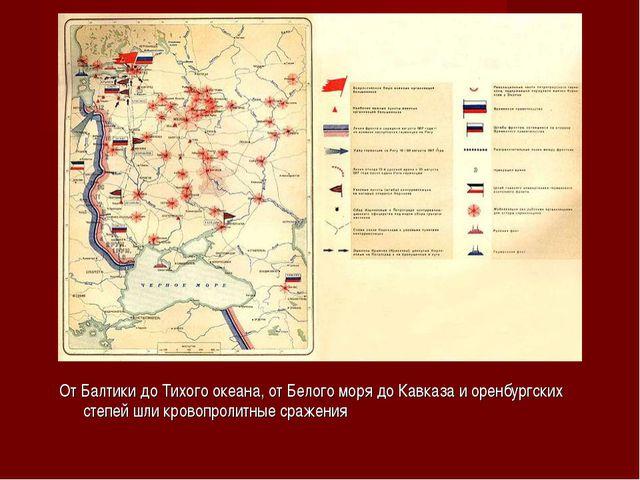 От Балтики до Тихого океана, от Белого моря до Кавказа и оренбургских степей...