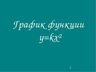 График функции у=kx²