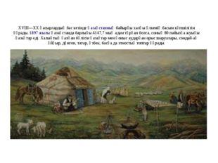 XVIII—XX ғасырлардыңбас кезіндеҚазақстанныңбайырғы халқы өлкенің басым көп