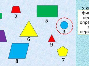 У какой фигуры нельзя определить периметр?
