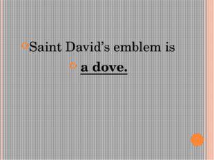 Saint David's emblem is a dove.