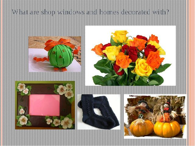 What are shop windows and homes decorated with?