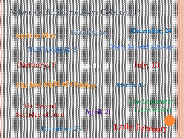 When are British Holidays Celebrated? The Second Saturday of June Late Septem...
