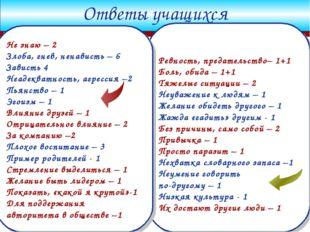 Company Logo www.themegallery.com Ответы учащихся Ревность, предательство– 1+