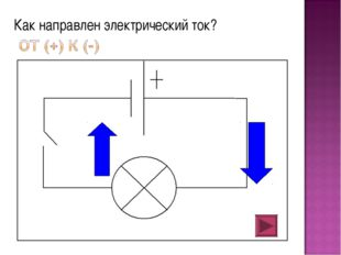 Как направлен электрический ток?