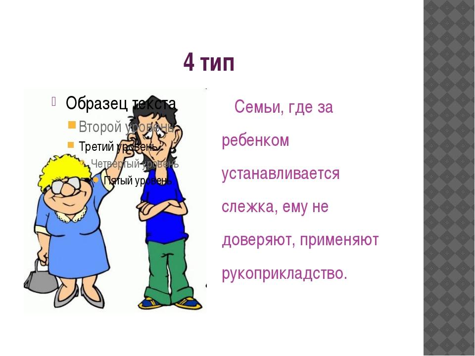 4 тип Семьи, где за ребенком устанавливается слежка, ему не доверяют, применя...