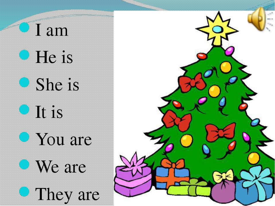 I am He is She is It is You are We are They are