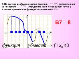 8. На рисунке изображен графикфункции , определенной на интервале . Определи