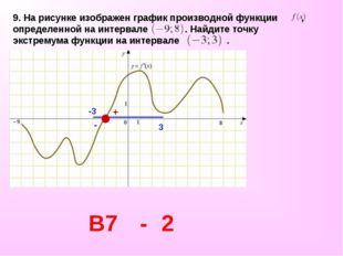 9. На рисунке изображен графикпроизводной функции , определенной на интервал