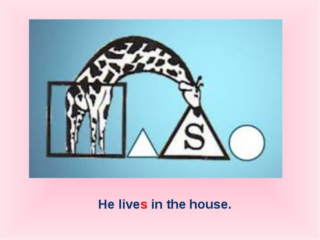 He lives in the house.