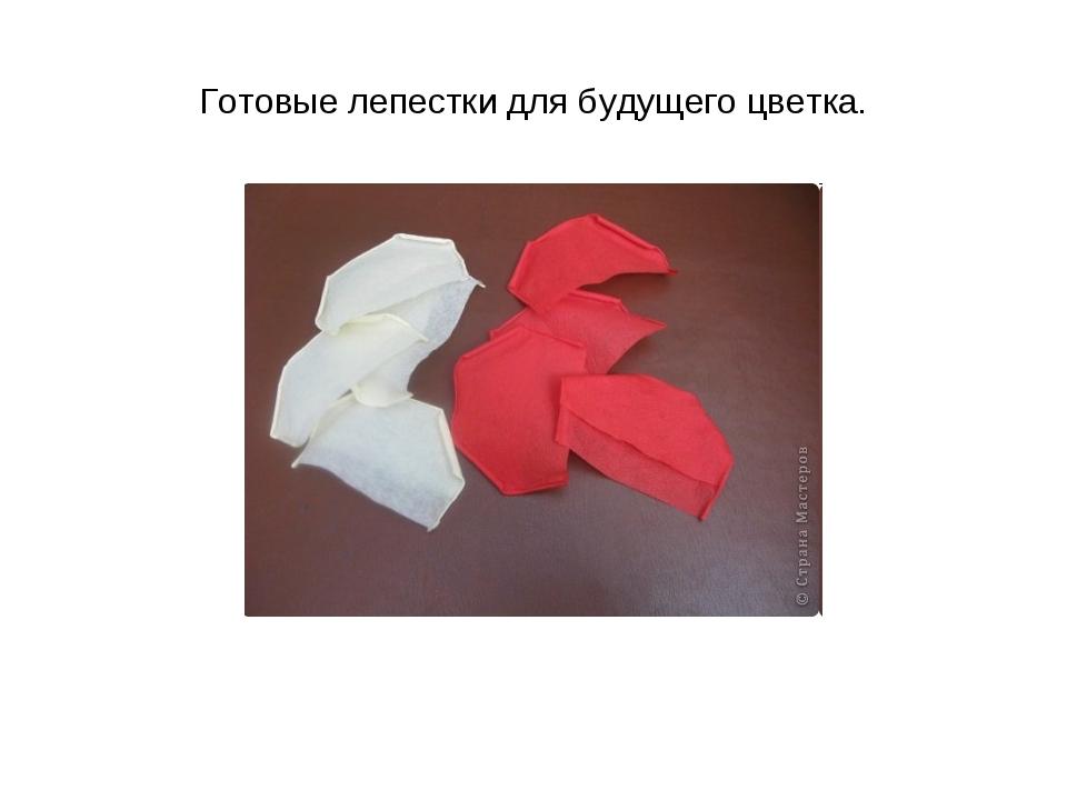 Готовые лепестки для будущего цветка.