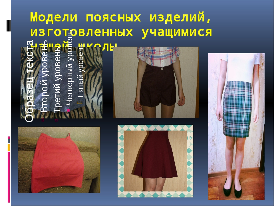 Модели поясных изделий, изготовленных учащимися нашей школы