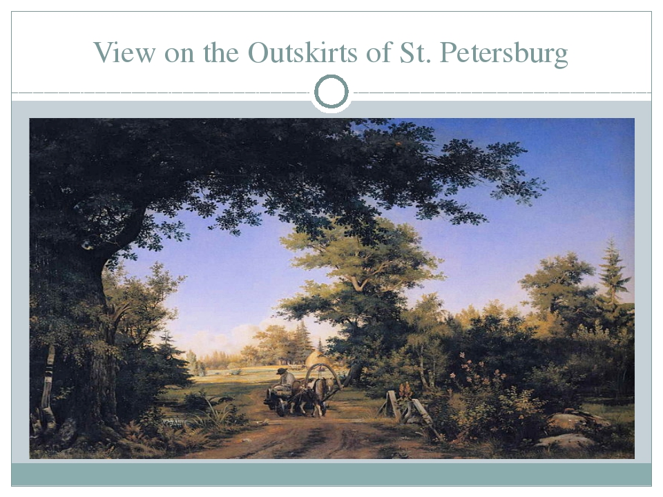 View on the Outskirts of St. Petersburg