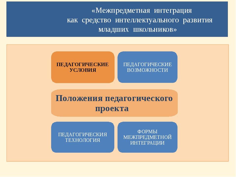«Межпредметная интеграция как средство интеллектуального развития младших шк...