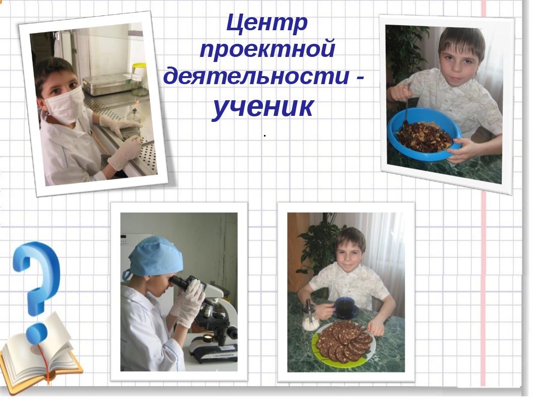Центр проектной деятельности - ученик .