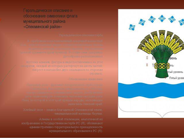 Геральдическое описание и обоснование символики флага муниципального района «...