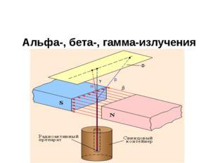 Альфа-, бета-, гамма-излучения
