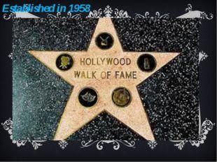 Established in 1958