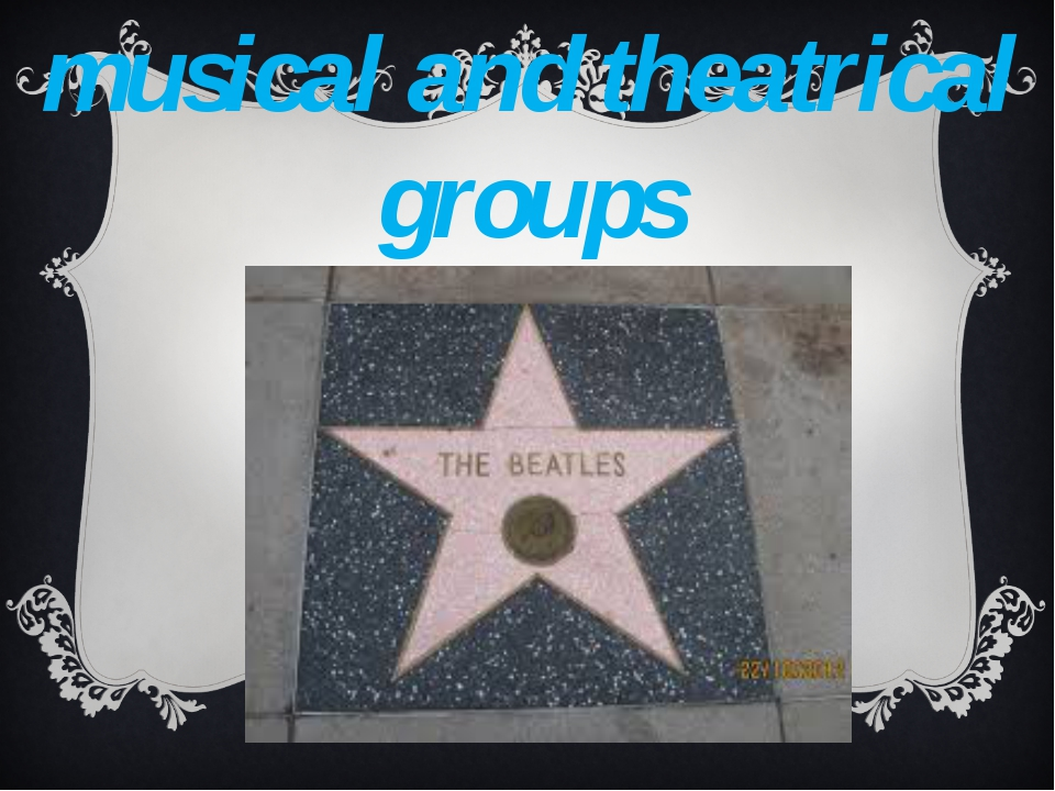 musical and theatrical groups