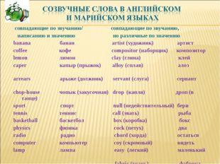 совпадающие по звучанию/ совпадающие по звучанию, написанию и значению но ра