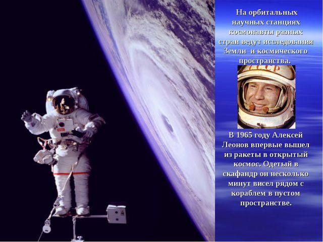 На орбитальных научных станциях космонавты разных стран ведут исследования З...