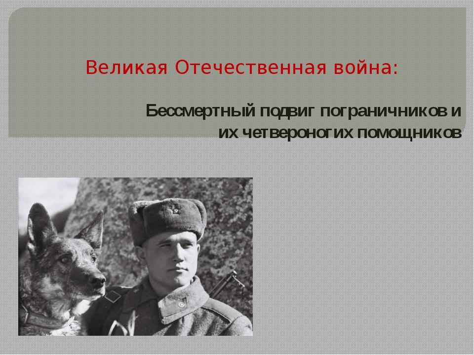 Великая Отечественная война: Бессмертный подвиг пограничников и их четвероног...