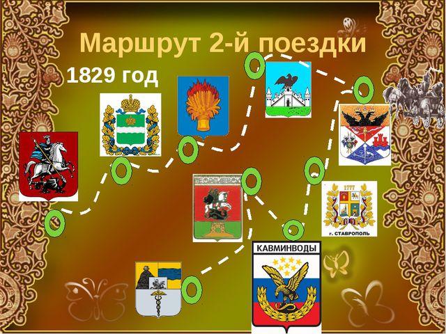 Маршрут 2-й поездки 1829 год