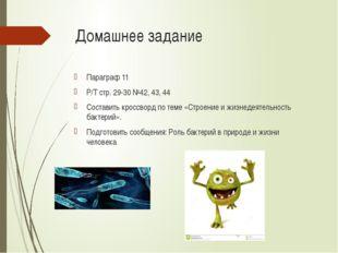 Домашнее задание Параграф 11 Р/Т стр. 29-30 №42, 43, 44 Составить кроссворд п