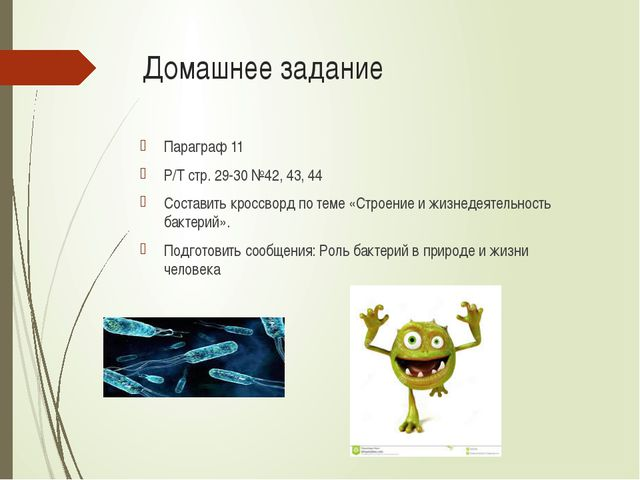 Домашнее задание Параграф 11 Р/Т стр. 29-30 №42, 43, 44 Составить кроссворд п...