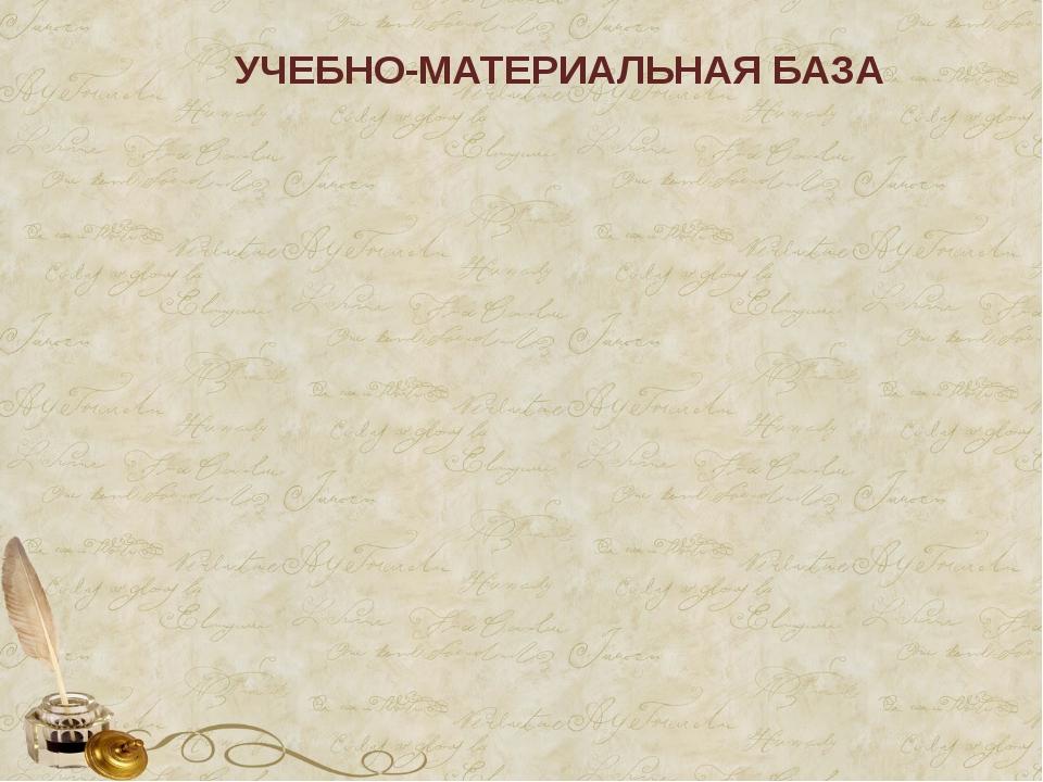УЧЕБНО-МАТЕРИАЛЬНАЯ БАЗА