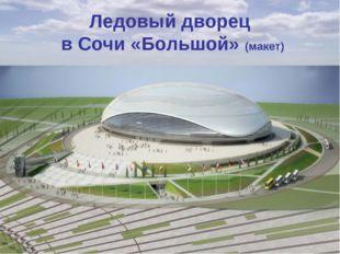 Ледовый дворец в Сочи «Большой» (макет)