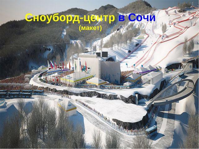 Сноуборд-центр в Сочи (макет)