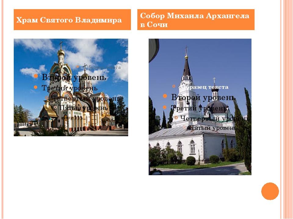 Храм Святого Владимира Собор Михаила Архангела в Сочи