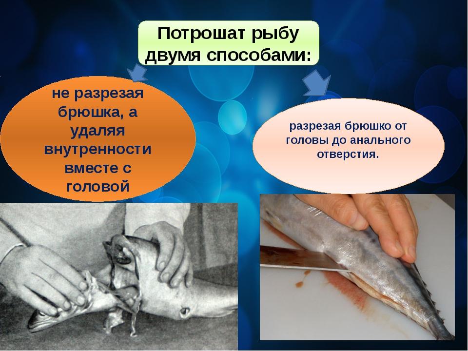 Потрошат рыбу двумя способами: не разрезая брюшка, а удаляя внутренности вмес...