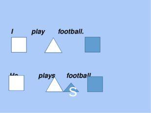 I play football. He plays football. s