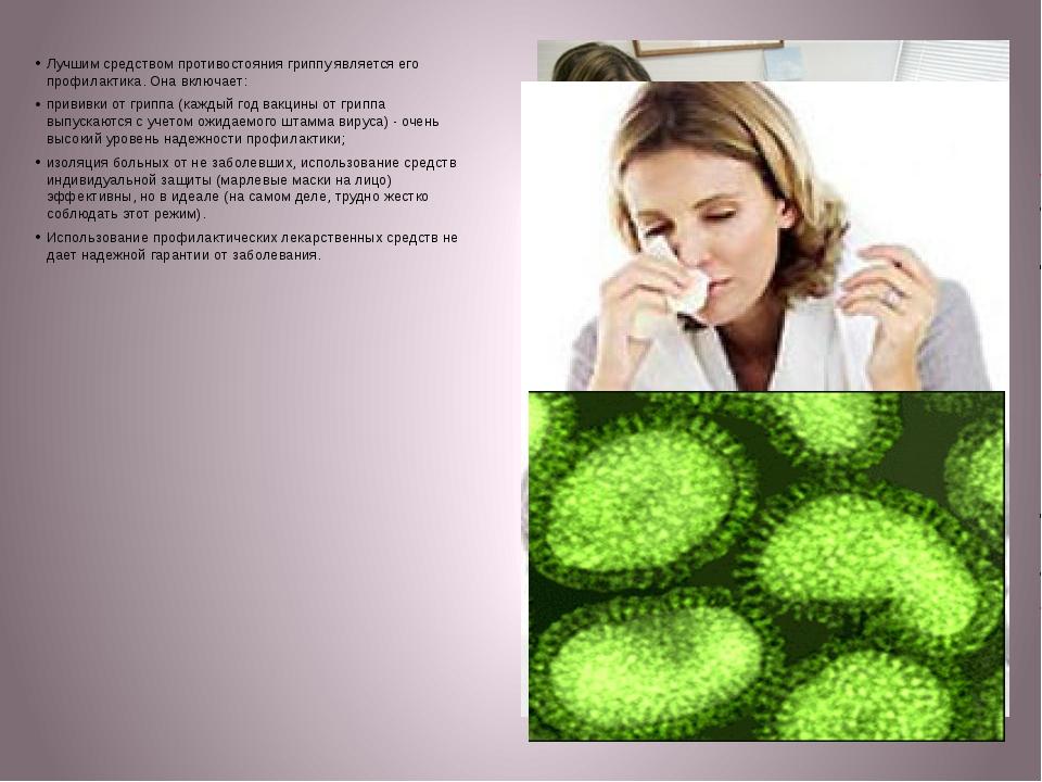 Лучшим средством противостояния гриппу является его профилактика. Она включае...
