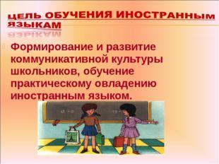 Формирование и развитие коммуникативной культуры школьников, обучение практич