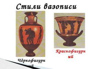 Стили вазописи Чёрнофигурный Краснофигурный