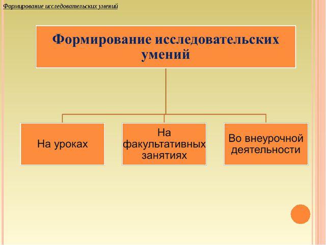 Формирование исследовательских умений
