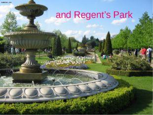 and Regent's Park