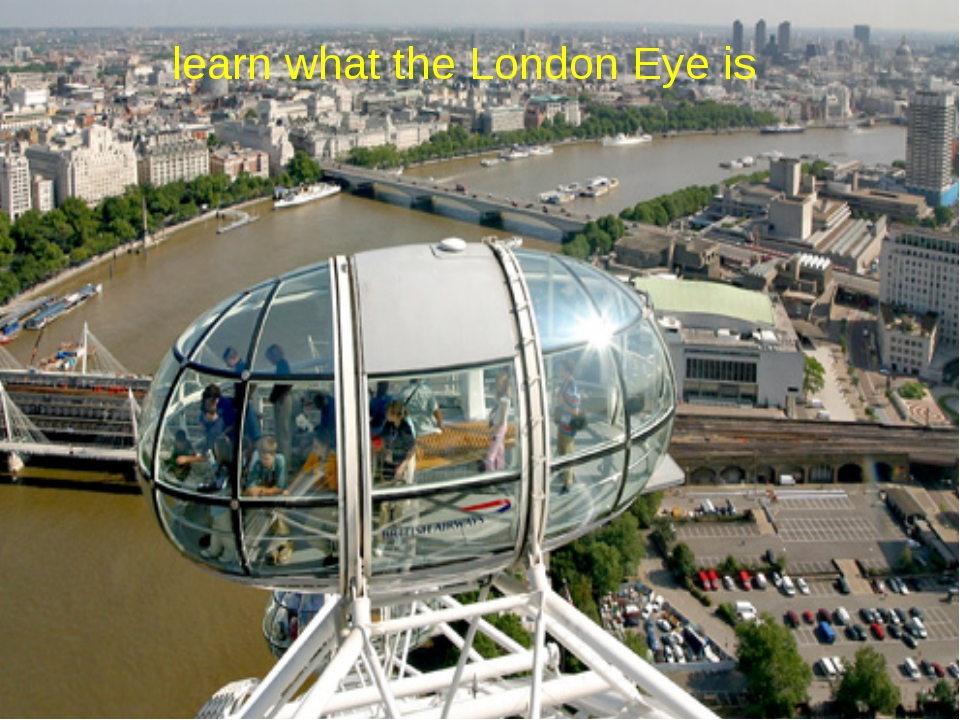 learn what the London Eye is