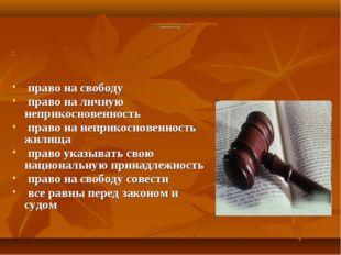 Глава 2. Права и свободы человека и гражданина Гражданские (ст. 17-28) : пра