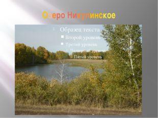 Озеро Никулинское