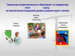 Ориентации профессионального образования на современном этапе - выход на перс